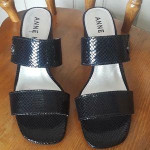 Anne Klein Black Block Heel Sandal